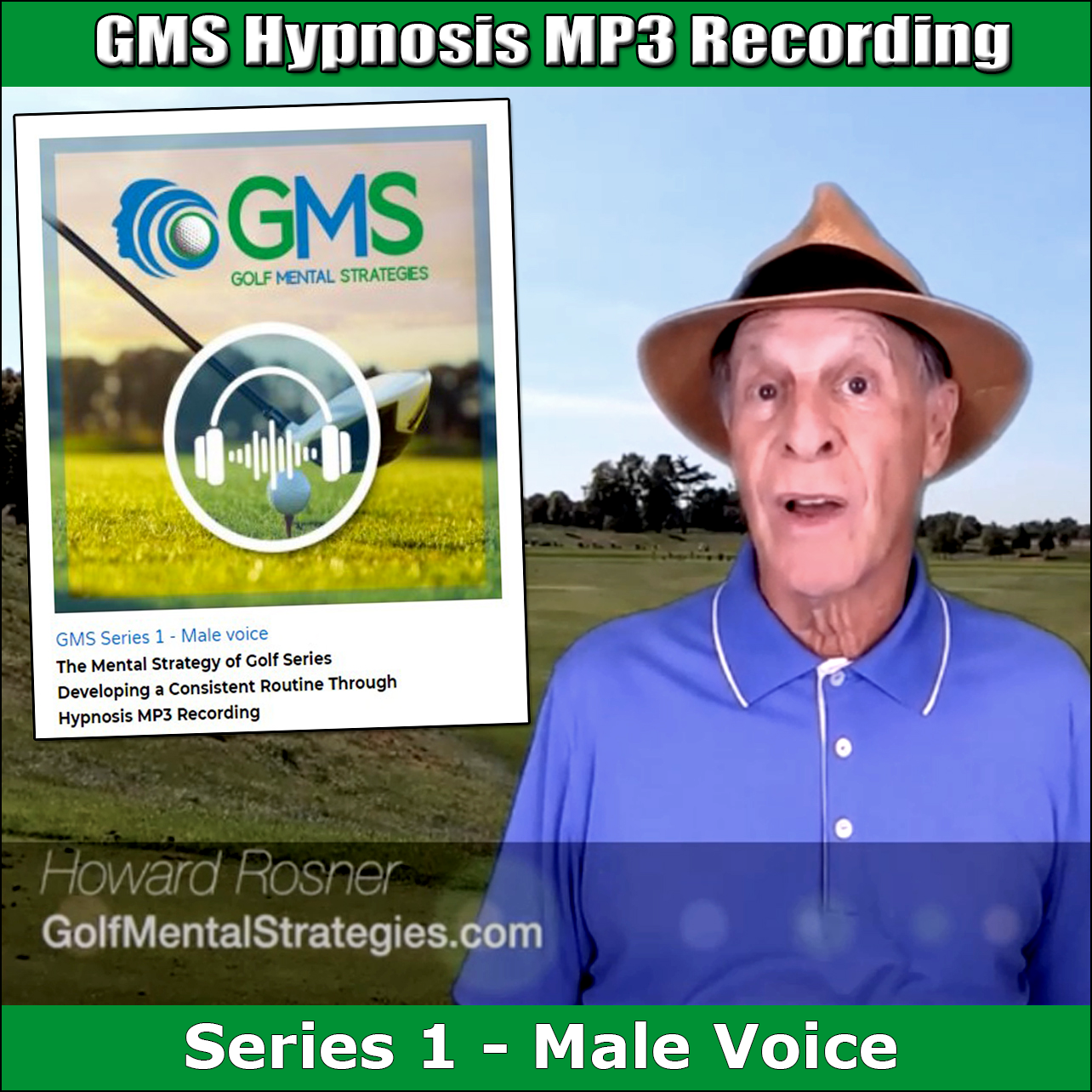 GMS Hypnosis MP3 Recording Series 1 – Male Voice